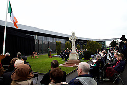 The Interfaith Service and Unveiling of Necrology Wall, Glasnevin Cemetery, Sunday 3 April 2016.<br /> <br /> An Taoiseach Enda Kenny TD.<br /> Heather Humphreys, the Minister for Arts, Heritage and the Gaeltacht.