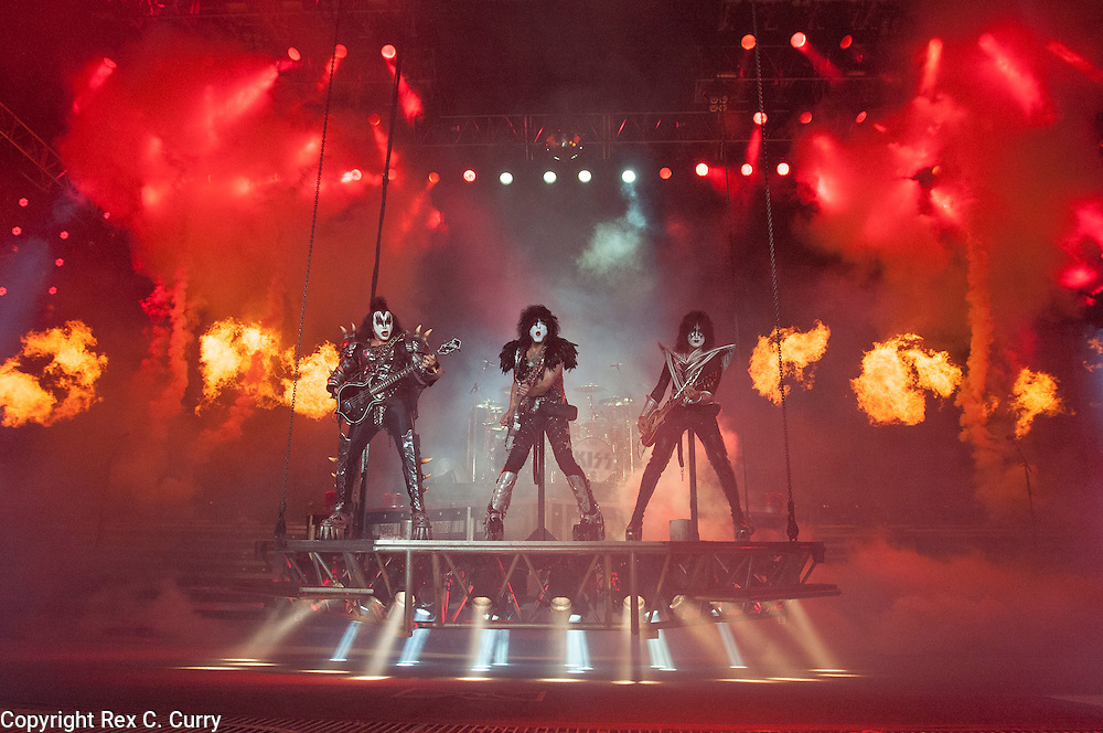 Kiss performs at Gexa Energy Pavilion on Saturday, August 4, 2012......(Rex C. Curry/Special Contributor)
