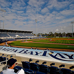 February 25, 2011; Port Charlotte, FL, USA; A general view during a Tampa Bay Rays spring training split squad scrimmage at Charlotte Sports Park.  Mandatory Credit: Derick E. Hingle-US PRESSWIRE