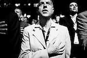L' Inno di Mameli prima dell'intervento di Gianfranco Fini durante la manifestazione Partecipa<br /> 28 giugno  2014. Daniele Stefanini /  OneShot