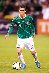 February 24, 2010; San Francisco, CA, USA;  Mexico defender Paul Aguilar (3) during the second half against Bolivia at Candlestick Park. Mexico defeated Bolivia 5-0.