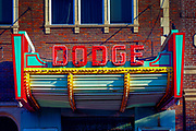 Kansas / Dodge City / Dodge Theater Marquee / Historic District