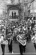 Elsecar banner, 1983 Yorkshire Miner's Gala. Barnsley