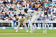Hardik Pandya of India is made to jump from a short delivery from Ben Stokes of England during second day of the Specsavers International Test Match 2018 match between England and India at Edgbaston, Birmingham, United Kingdom on 2 August 2018. Picture by Graham Hunt.