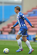 Wigan Defender Stephen Warnock during the Sky Bet League 1 match between Wigan Athletic and Coventry City at the DW Stadium, Wigan, England on 9 April 2016. Photo by John Marfleet.