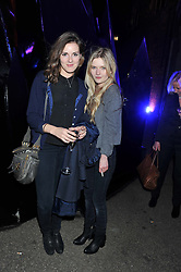 Left to right, SOPHIE COOMBES and model SOPHIE KENNEDY CLARK the new face of Burberry at a party to celebrate the launch of the new Vertu Constellation phone - the luxury phonemakers first touchscreen handset, held at the Farmiloe Building, St.John Street, Clarkenwell, London on 24th November 2011.