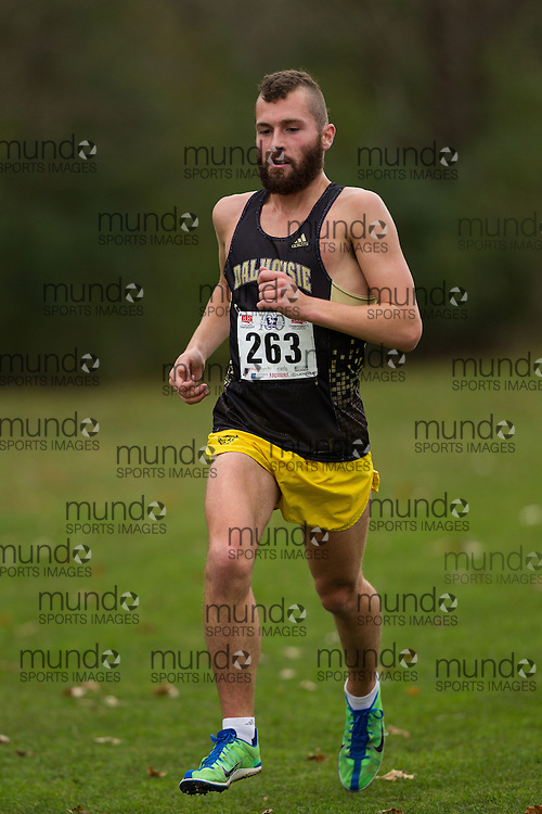 Matt McNeil of the Dalhousie runs in the men's  10K Run at the 2013 CIS Cross Country Championships in London Ontario, Saturday,  November 9, 2013.<br /> Mundo Sport Images/ Julie Robins