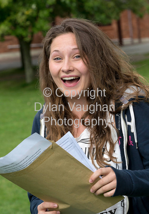 14/8/2013<br /> <br /> Anna Booth from The Heath Co Laois pictured getting the Leaving Certificate results at Kilkenny College.<br /> Picture Dylan Vaughan.