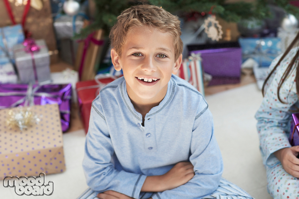 Excited Boy at Christmas