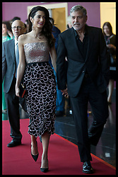 May 15, 2019 - London, London, United Kingdom - Image licensed to i-Images Picture Agency. 15/05/2019. London, United Kingdom. George and Amal Clooney arriving at the Catch 22 premiere in London. (Credit Image: © Stephen Lock/i-Images via ZUMA Press)