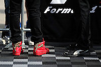 Puma boots worn by Lewis Hamilton (GBR) Mercedes AMG F1 (Left).<br /> United States Grand Prix, Thursday 30th October 2014. Circuit of the Americas, Austin, Texas, USA.
