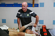 Forest Green Rovers physio Ian Weston during the Forest Green Rovers Training session at Browns Sport and Leisure Club, Vilamoura, Portugal on 24 July 2017. Photo by Shane Healey.