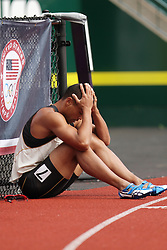 Olympic Trials Eugene 2012: Decathlon, dejected Brian Clay after DQ in Hurdles