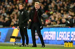 West Ham United manager David Moyes gives instructions on the touchline.  - Mandatory by-line: Alex James/JMP - 04/01/2018 - FOOTBALL - Wembley Stadium - London, England - Tottenham Hotspur v West Ham United - Premier League