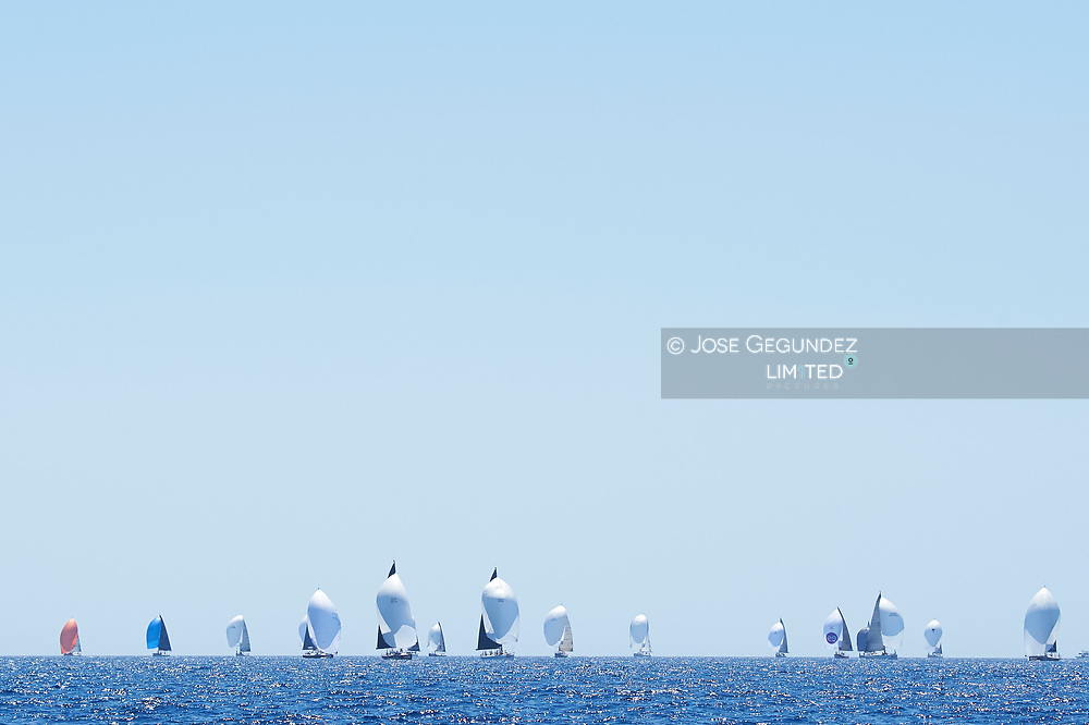 Yatchs during last day in Sailing Cup Copa del Rey Mapfre