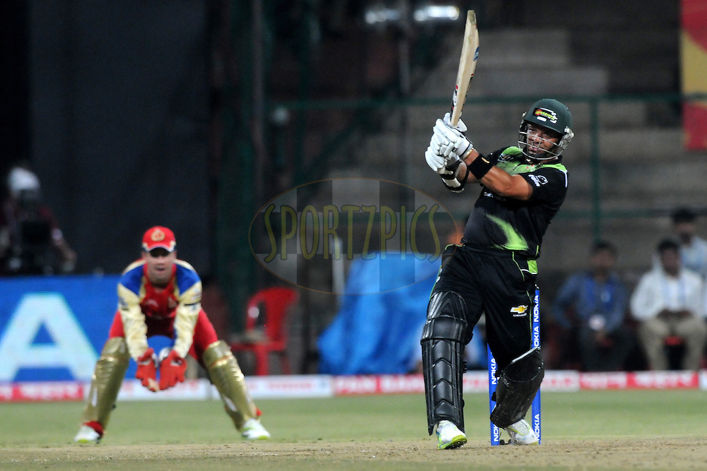 Ashwell Prince of Warriors bats during match 1 of the NOKIA Champions League T20 ( CLT20 )between the Royal Challengers Bangalore and the Warriors held at the  M.Chinnaswamy Stadium in Bangalore , Karnataka, India on the 23rd September 2011..Photo by Pal Pillai/BCCI/SPORTZPICS