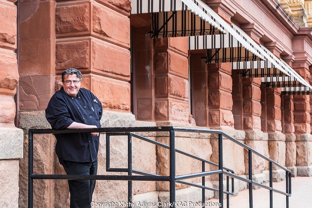 Chef from Luigi's Ristorante Italiano Italian Restaurant on 24th Street posing, Galveston, Texas