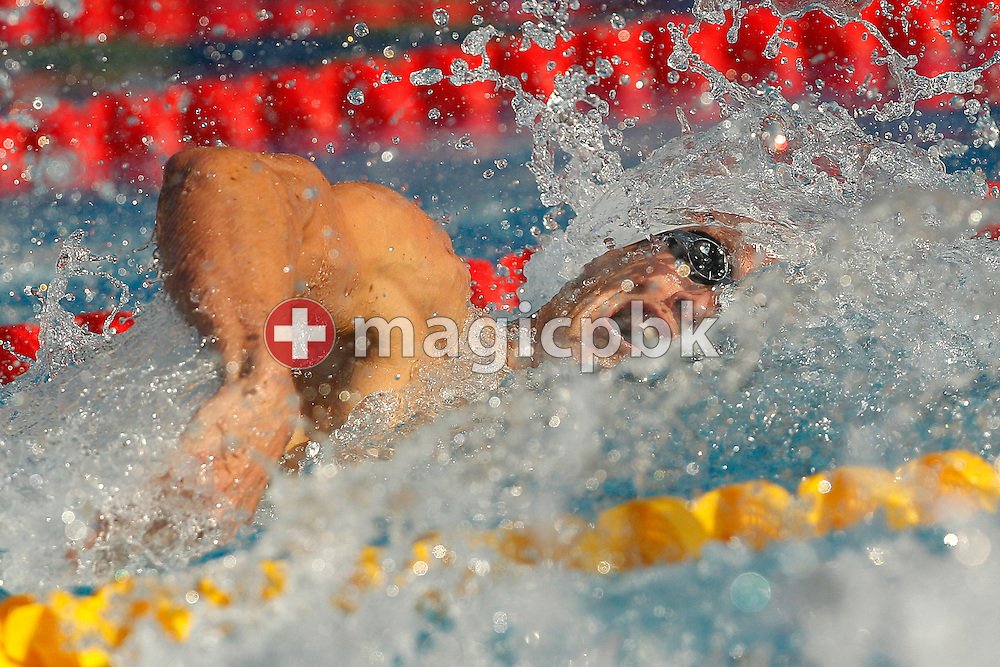Alain BERNARD of France competes in the men's 100m Freestyle Semifinal 2 at the European Swimming Championship at the Hajos Alfred Swimming complex in Budapest, Hungary, Thursday, Aug. 12, 2010. (Photo by Patrick B. Kraemer / MAGICPBK)