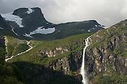 Oden, Norway.  Briksdalbreen glacier walk