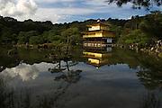 Kinkaku-ji (金閣寺 Temple of the Golden Pavilion), also known as Rokuon-ji, is a Zen Buddhist temple in Kyoto, Japan. The garden complex is an excellent example of Muromachi period garden design.