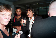 Ana Araujo; Ronnie Wood, The UK premiere of Tanguera, SadlerÕs Wells. ANGEL. LONDON. 4 AUGUST 2010. -DO NOT ARCHIVE-© Copyright Photograph by Dafydd Jones. 248 Clapham Rd. London SW9 0PZ. Tel 0207 820 0771. www.dafjones.com.<br /> Ana Araujo; Ronnie Wood, The UK premiere of Tanguera, Sadler's Wells. ANGEL. LONDON. 4 AUGUST 2010. -DO NOT ARCHIVE-© Copyright Photograph by Dafydd Jones. 248 Clapham Rd. London SW9 0PZ. Tel 0207 820 0771. www.dafjones.com.