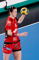 Ana Gros of Krim during 2nd Round of Group 1 at Women Champions League handball match between RK Krim Mercator, Ljubljana and HC Leipzig, Germany on February 13, 2010 in Arena Kodeljevo, Ljubljana, Slovenia. Krim defeated  Leipzig 32-26. (Photo by Vid Ponikvar / Sportida)