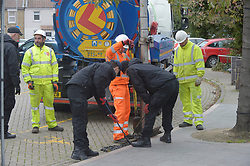 © Licensed to London News Pictures 27/10/2018<br /> Dartford,UK.<br /> Police continue to search drains in Dartford town centre for missing mum Sarah Wellgreen<br /> Photo credit: Grant Falvey/LNP