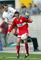 v.l. Martin Petrov, Philipp Lahm Stuttgart<br /> Bundesliga VFL Wolfsburg - VFB Stuttgart