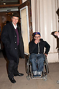 NICHOLAS LOGSDAIL;  RYAN GANDER, Ourhouse Nathaniel Mellors opening. ICA. The Mall. London. 8 March 2011. -DO NOT ARCHIVE-© Copyright Photograph by Dafydd Jones. 248 Clapham Rd. London SW9 0PZ. Tel 0207 820 0771. www.dafjones.com.