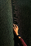 Image of the Vietnam Veterans Memorial Wall in Washington DC, American Northeast