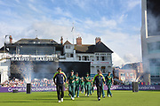 Fireworks herald the start of the Natwest T20 Blast North Group match between Nottinghamshire County Cricket Club and Worcestershire County Cricket Club at Trent Bridge, West Bridgford, United Kingdom on 26 July 2017. Photo by Simon Trafford.