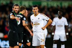 Jack Cork of Swansea City looks on - Mandatory byline: Rogan Thomson/JMP - 07966 386802 - 19/10/2015 - FOOTBALL - Liberty Stadium - Swansea, Wales - Swansea City v Stoke City - Barclays Premier League.