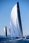 Evniki sailing in the  Corfu Challenge, day four.