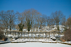 Snow covered Italian Garden at the Central Park Conservatory