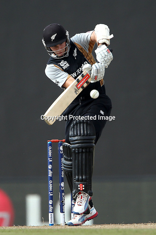 Kane Williamson during the ICC World Twenty20 Super 8s match between England and New Zealand held at the  Pallekele Stadium in Kandy, Sri Lanka on the 29th September 2012<br /> <br /> Photo byRon Gaunt/SPORTZPICS/PHOTOSPORT