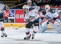 KELOWNA, CANADA - SEPTEMBER 3: Konrad Belcourt #5 of Kelowna Rockets of Kelowna Rockets skates against the Victoria Royals on September 3, 2016 at Prospera Place in Kelowna, British Columbia, Canada.  (Photo by Marissa Baecker/Shoot the Breeze)  *** Local Caption *** Konrad Belcourt;