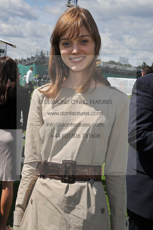 BELLA HEATHCOTE at the 27th annual Cartier International Polo Day featuring the 100th Coronation Cup between England and Brazil held at Guards Polo Club, Windsor Great Park, Berkshire on 24th July 2011.