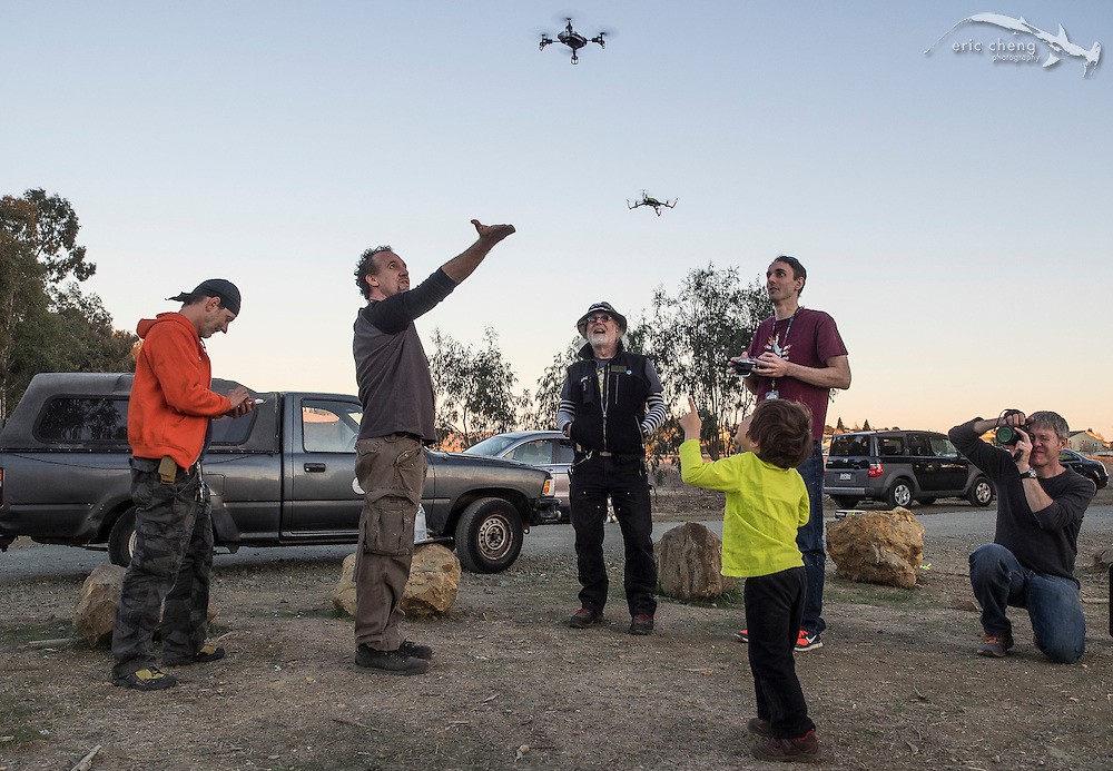 Make Magazine drone fly-in, January 20, 2014