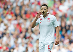 LONDON, ENGLAND - Saturday, June 2, 2012: England's John Terry in action against Belgium during the International Friendly match at Wembley. (Pic by David Rawcliffe/Propaganda)