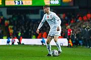 Leeds United defender Leif Davis (40) during the EFL Sky Bet Championship match between Leeds United and Blackburn Rovers at Elland Road, Leeds, England on 9 November 2019.