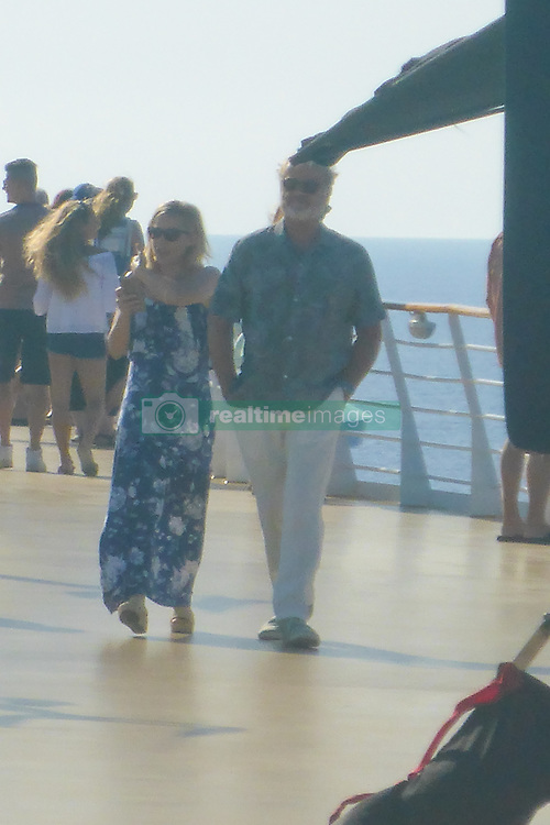 EXCLUSIVE: Kristin Bell and Kelsey Grammer on the film set of Like Father on a Royal Caribbean ship off the Florida coast. 17 Sep 2017 Pictured: Kristin Bell and Kelsey Grammer on film set of Like Father on Royal Caribbean's Harmony of the Seas on Sunday Sept 17, 2017. Photo credit: MEGA TheMegaAgency.com +1 888 505 6342