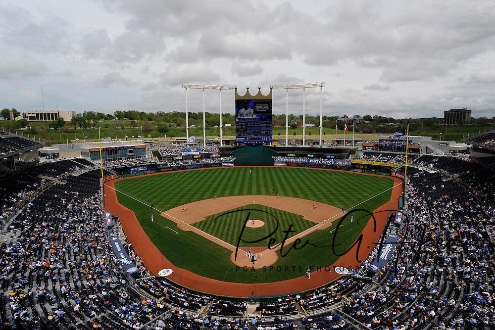 April 30, 2008:  The Kansas City Royals and Toronto Blue Jays at Kauffman Stadium in Kansas City, Missouri.  The Royals defeated the Blue Jays 8-6...