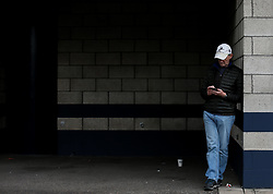 A Millwall fan outside the stadium prior to kick off - Mandatory by-line: Arron Gent/JMP - 05/10/2019 - FOOTBALL - The Den - London, England - Millwall v Leeds United - Sky Bet Championship
