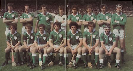 All Ireland Senior Hurling Championship - Final,.07.09.1980, 09.07.1980, 7th September 1980,.Galway 2-15, Limerick 3-9,.07091980ALSHCF,..Limerick, Back row, Joe McKenna, Mossy Carroll, Willie Fitzmaurice, Tommy Quiad, Leonard Enright, Dom Punch, Paudie Fitzmaurice, Eamonn Cregan, front row, Ollie O'Connor, John Flanagan, Donal Murray, Sean Foley captain, Jimmy Carroll, David Punch, Liam O'Donoghue,