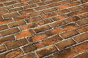 Brick floor at San Sebastian del Pastelillo (Spanish fort-1743), Cartagena de Indias, Bolivar Department,, Colombia, South America..