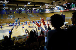 Arena Tivoli during volleyball game between OK ACH Volley and OK Panvita Pomgrad in 1st final match of Slovenian National Championship 2013/14, on April 6, 2014 in Arena Tivoli, Ljubljana, Slovenia. Photo by Vid Ponikvar / Sportida