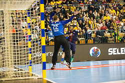 Klemen Ferlin during handball match between RK Celje Pivovarna Lasko (SLO) and Paris Saint-Germain HB (FRA) in VELUX EHF Champions League 2018/19, on February 24, 2019 in Arena Zlatorog, Celje, Slovenia. Photo by Peter Podobnik / Sportida