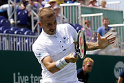 Evans (GBR) Vs Albot (MDA) Action at the Nature Valley International Eastbourne 2019, at Devonshire Park, Eastbourne, United Kingdom on 25th June 2019, Picture by Jonathan Dunville