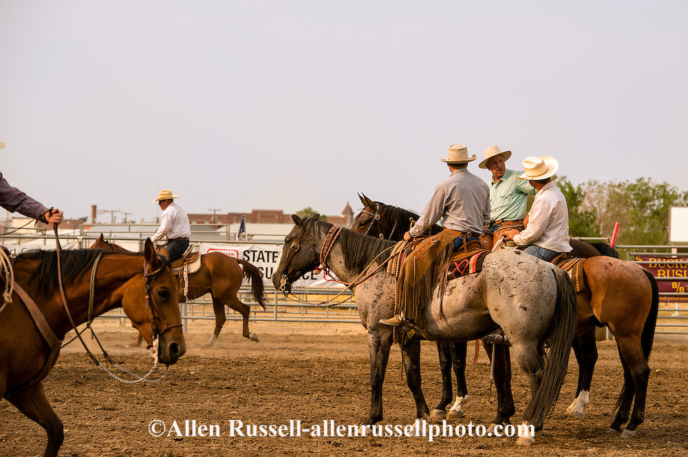 Buck Brannaman, ropers, Big Loop, Will James Roundup, Ranch Rodeo, Hardin, Montana