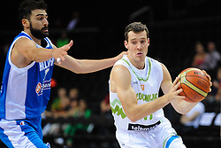 Konstantinos Vasileiadis of Greece vs Goran Dragic of Slovenia during friendly match between National Teams of Slovenia and Greece before World Championship Spain 2014 on August 17, 2014 in Kaunas, Lithuania. Photo by Robertas Dackus / Sportida.com
